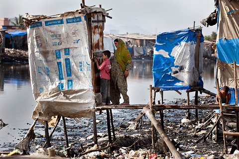 Indian slum toilet
