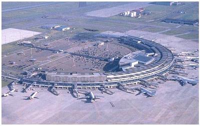 Chitose airport, bird eye view.