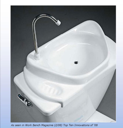 Toilet Sink : Sink Positive INSIDEflows