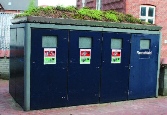 Solid waste separation bins