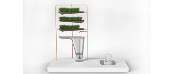 Filtering squatting toilet system